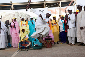 A serial docudrama being performed in the streets of Africa. Photo courtesy of UNAMID.