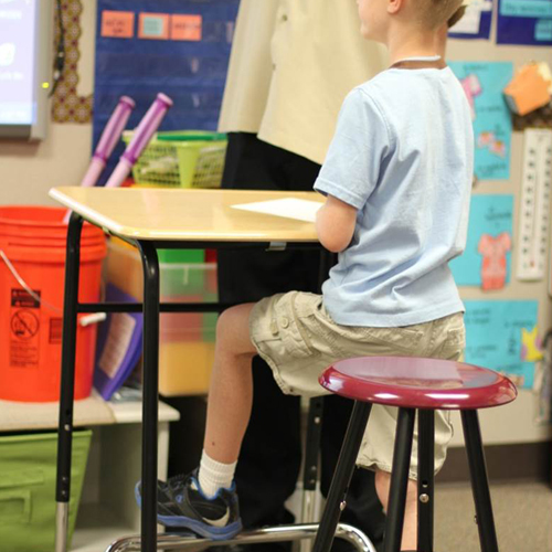 Elementary students using stand-biased desks in the classroom showed a statistically significant increased amount of calories burned.