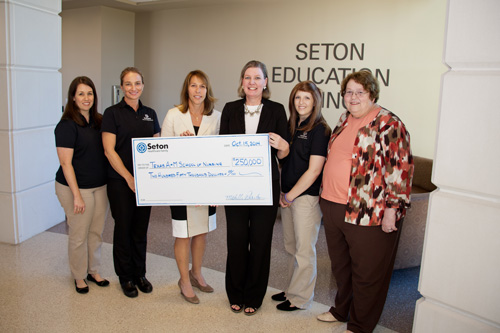 This gift brings Seton Medical Center Williamson's contribution total to more than $1.5 million since 2009 and solidifies the goal of both entities to produce the best possible nursing care for Central Texas.