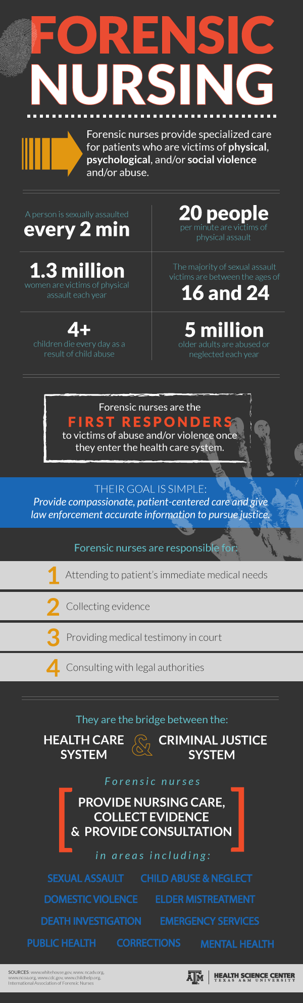 Infographic on forensic nursing