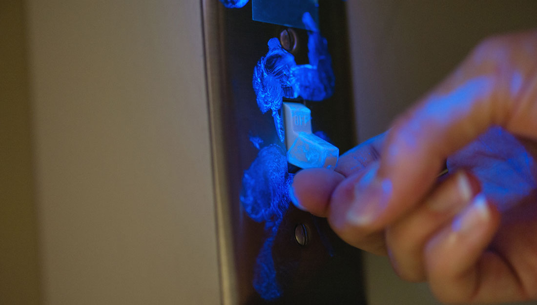 Germs on light switch