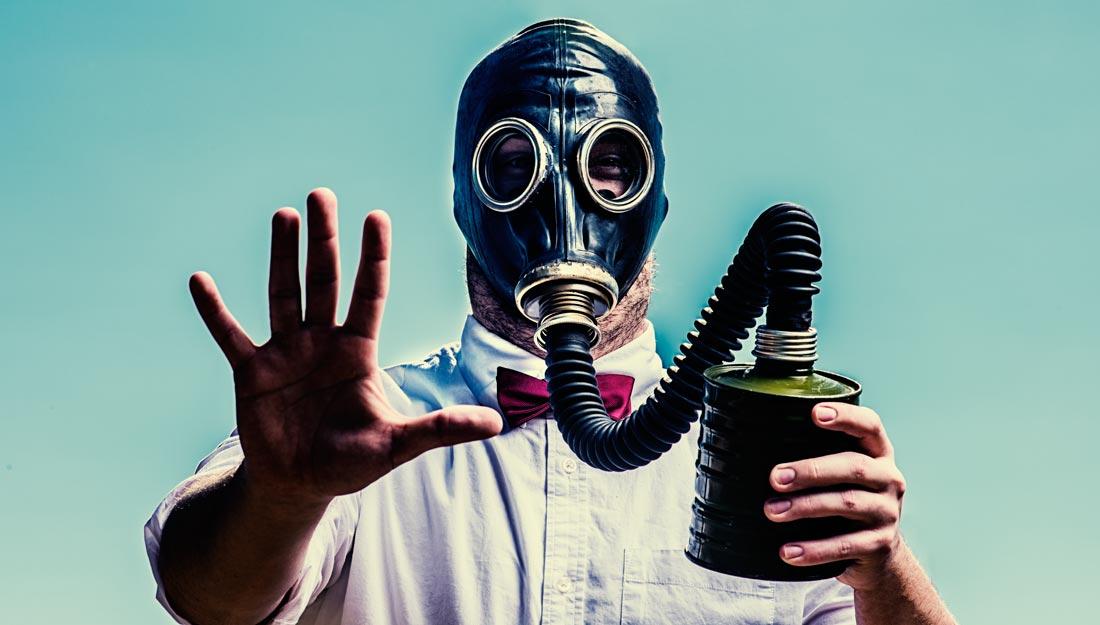 Old school gas mask