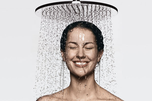 health habits - showering