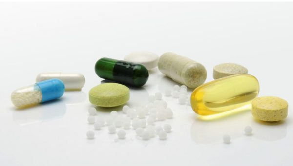 Various medications grouped together.