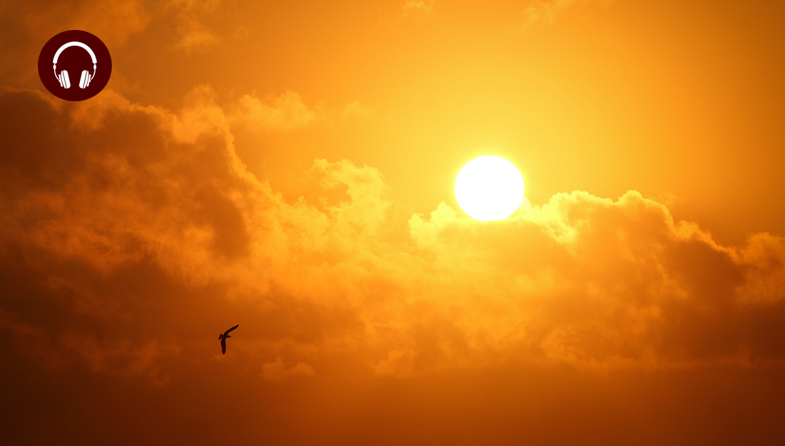 Can the sun make you sick? - an image of a sunset behind the clouds