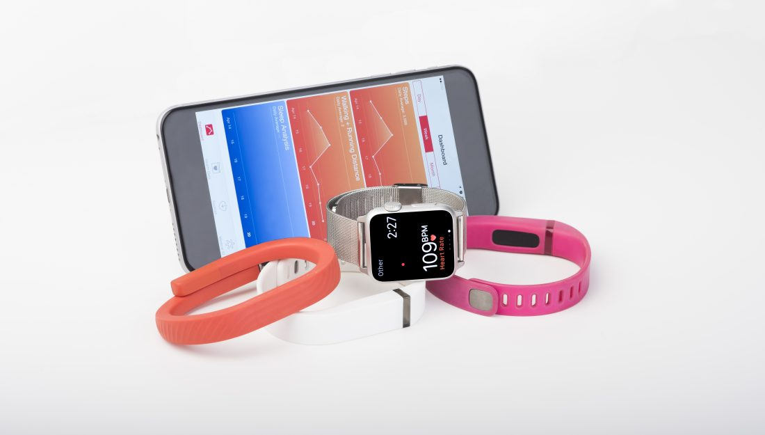 Fitness bands and phone