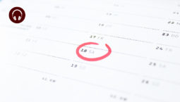 a paper calendar with a date circled