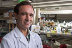 Jeffrey Cirillo stands in his lab