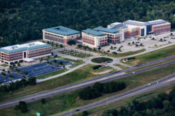 aerial image of Texas A&M Health campus on Highway 47 in Bryan, TX
