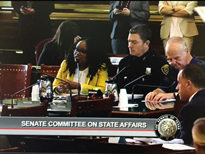 Dr. Ferdinand at the Senate Committee on State Affairs