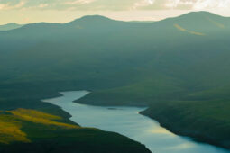 landscape photo of a lake in Lesotho