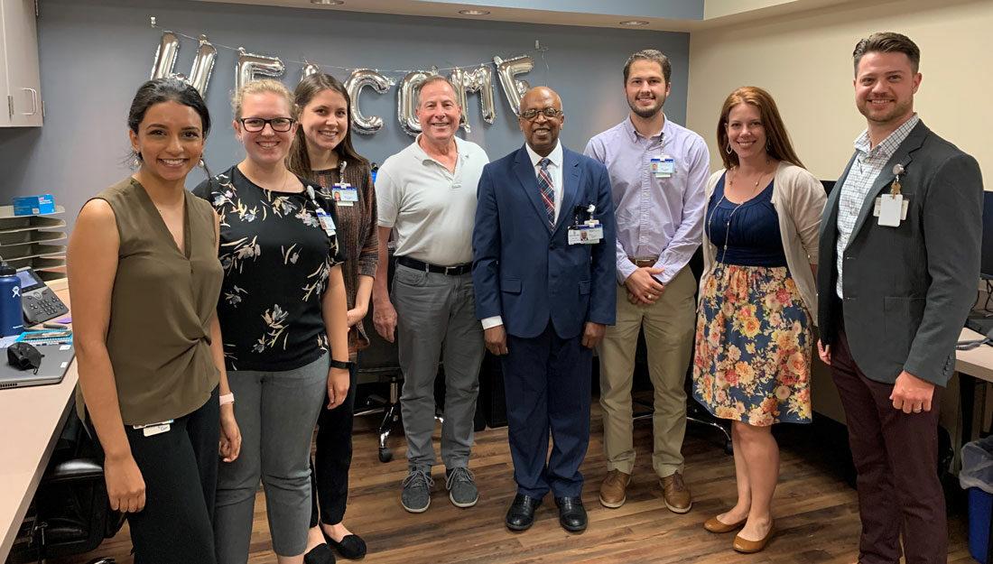 Residents and faculty from the new Pharmacy Residency Program at St. Joseph Regional Hospital